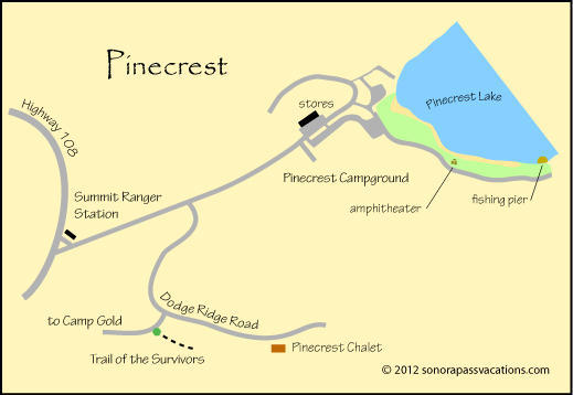 Map of Pinecrest area