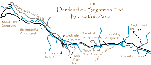 map of Dardanelle Area