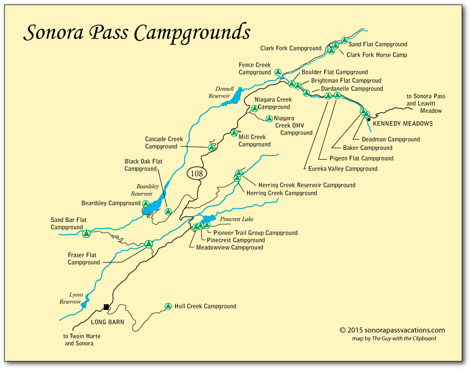 campgrounds along sonora pass