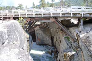 photo showing underside of the historic Stanislaus River Bridge