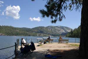 Fishing Dock at Pinecrest Lake