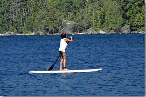 photo of paddleboard on Pinecrest Lake, CA